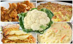 Zemiakový chlebík skoro bez práce: Len zamiešať, dať do rúry a máte hotovo - vydrží až do Silvestra! Cauliflower, Diet, Vegetables, Diabetes, Foods, Drinks, Food Food, Drinking, Food Items