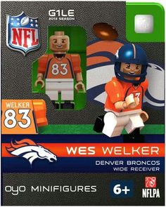 *Generation One Limited Edition NFL OYO minifigure *Figure comes with a football team helmet removable face mask and water bottle *Also includes stand with unique OYO DNA number *OYO is compatible wit Wes Welker, Denver Broncos Peyton Manning, Go Broncos, Manning Football, Football Team, Eric Decker, Demaryius Thomas, Football Design