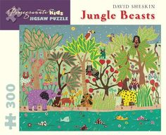 Jungle Beasts by David Sheskin Jigsaw Puzzle Pomegranate http://www.amazon.com/dp/0764955268/ref=cm_sw_r_pi_dp_KOyevb0BPJYS6