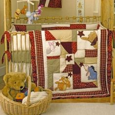 Our little Lisa's Room: I got the idea that I wanted a Winnie the Pooh Wish Upon a Star bedding set from the pictures in a Sears catalog.  There are times when we finally get