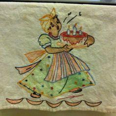Vintage dish towel.