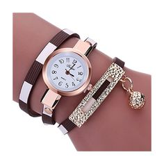 #womens #watches Womens Bracelet WatchesUlanda-EU Charm Wrap Around Winding Analog Clearance Lady Wrist Watch Female watches on Sale Watches for WomenRound Dial Case Comfortable PU leather Wristwatch m75