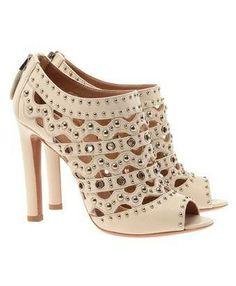 #Azzedine Alaia studded leather shoe-boots