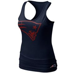 Women's New England Patriots Nike Red/Navy Blue Home & Away V-Neck Tri-Blend T-Shirt