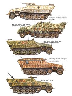 Sd.Kfz.251 Ausf. D: Five versions of the same vehicle.