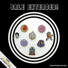 #Repost @conjureclub  Because we miss Halloween and want keep the spirit going we are extending our sale!!! Don't forget to use discount code: HALLOWEEN16 at checkout for 20% off your entire purchase including preorders of our newest pins! Offer ends at midnight tonight so if you've been eyeing something now is the time pull the trigger! theconjureclub.com #conjureclub #halloweensale #lapelpin #enamelpin #hatpins #pingame #pingamestrong #pinsofig #pinstagram #pincommunity    (Posted by…