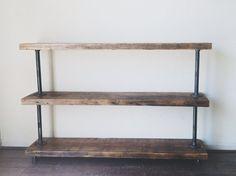 Industrial Reclaimed Utility Shelf by TylerKingstonWoodCo on Etsy, $265.00