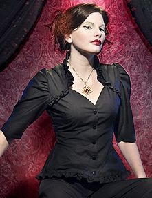 In my personal experience, these stitched-on bolero tops are terribly uncomfortable to move your arms around in... but damn, do they look nice. | RetroscopeFashions.com