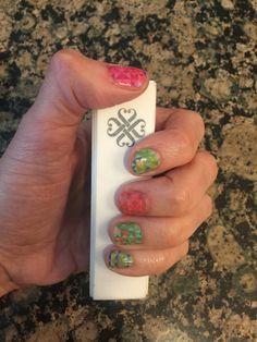 Patchwork wrap by Jamberry.  #jamberry #nailart #nailwraps #beautifulnails stephanieron.jamberry.com