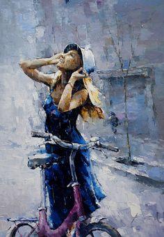 alexi zaitsev art   Rain - Alexi Zaitsev - Russian Fine Art I just love this painting.