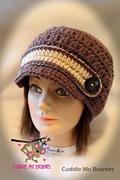 Ravelry: Woodland Newsboy Crochet Pattern pattern by April Bennett with Cuddle Me Beanies