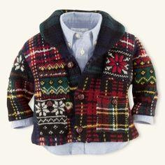 Patchwork Cotton Cardigan - Layette Tops & Bottoms - RalphLauren.com