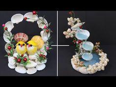 10 Seashell showpiece idea   Home decorating ideas with Seashell - YouTube Seashell Art, Seashell Crafts, Seashell Projects, Sell Diy, Sea Shells, Fun Crafts, Diy Home Decor, Floral Wreath, Projects To Try