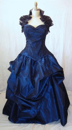 Bustle gown Red Corset Gown Masquerade Prom Gothic prom gown steampunk prom. $399.99, via