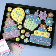 Personalised 'Happy Birthday' cookie gift box