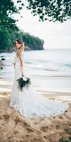 33 Absolutely Gorgeous Destination Wedding Dresses ❤ See more: http://www.weddingforward.com/destination-wedding-dresses/ #wedding