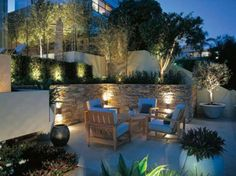 Night Yard Landscaping with Outdoor Lights, 25 Beautiful Lighting Ideas – Lushome