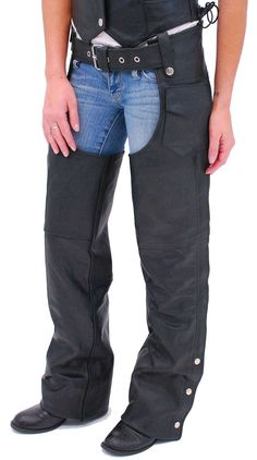 Classic Motorcycle Chaps w/Zip Out Linings - Special #C457ZK