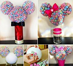 Mickey and Minnie Mouse Lollipop Heads