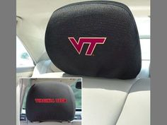 "Virginia Tech Head Rest Cover 10""x13"""