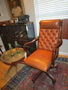 Fine, Hancock & Moore Leather Executive Desk Chair — Sarah Cyrus Home