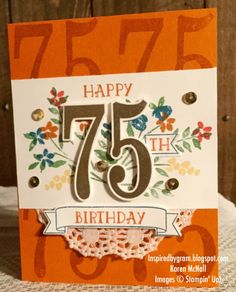 Stampin' Up! Number of Years and Large Numbers Framelits by Inspired By Gram
