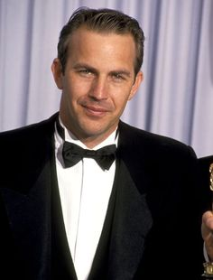 Kevin Costner    At the 1990 Academy Awards, Costner was nominated for Best Actor for his role in Dances With Wolves.    Why it works: More of the same: wing-tip tux shirt, small bow tie.