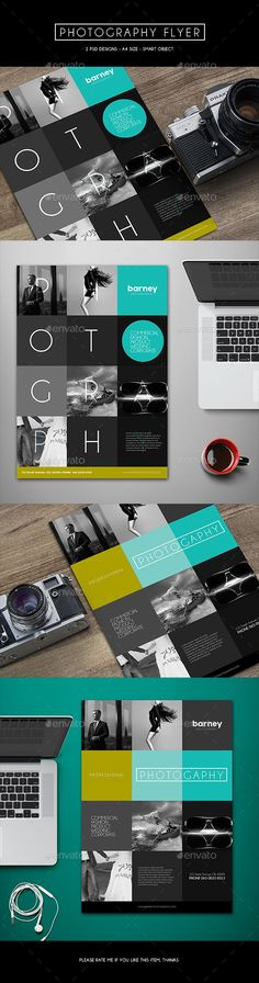 Photography Flyer Template PSD #design Download: http://graphicriver.net/item/photography-flyer/13346531?ref=ksioks
