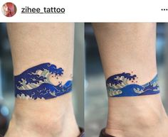 50 Simple Wave Tattoo Designs for Men - Water Ink Ideas . 50 Simple Wave Tattoo Designs for Men - Water Ink Ideas . Diskrete Tattoos, Tattoos Bein, Body Art Tattoos, Ship Tattoos, Tattoo Korean, Korean Tattoo Artist, Ankle Tattoo Designs, Tribal Tattoo Designs, Ankle Tattoo Men