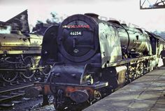 Its and the smokebox handrail of 46254 'City of Stoke on Trent' carries a garland of poppies in memory of the fallen, Crewe. Train Pictures, Art Pictures, Gandy Dancer, Steam Railway, Train Art, British Rail, Stoke On Trent, Steam Engine, Steam Locomotive