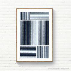 Abstract Wall Art, Abstract Print, Blue Wall Decor, Blue Walls, Minimalist Art, White Art, Modern Wall Art, Prints, Navy Blue