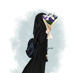 Islamic Cartoon, Anime Muslim, Hijab Cartoon, Islamic Girl, Muslim Women, Cartoon Art, Hijab Fashion, Girly, Photos
