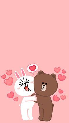we bare bear Lines Wallpaper, Bear Wallpaper, Couple Wallpaper, Pattern Wallpaper, Wallpaper Backgrounds, Cute Love Pictures, Cute Love Gif, Cute Couple Cartoon, Cute Love Cartoons