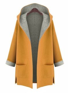 Cotton & Cotton Blend Long Sleeve Hooded Coats