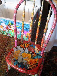 decoupage....a chair
