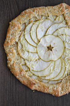 Bakeaholic Mama: Apple Cheddar Galette with  Greek Yogurt Crust