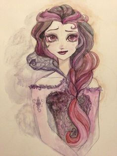I left my tablet pen at home, so i was forced to draw traditionally. Elsa Character, Disney Character Drawings, Kids Cartoon Characters, Disney Drawings, Art Drawings, Ever After High, Monster High Art, Monster High Dolls, Lizzie Hearts
