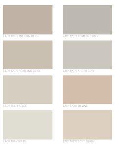Calm color scheme chosen by Jotun for 2019 color trends for interior decoration Ana Utrilla Living Room Color Schemes, Living Room Colors, Colour Schemes, Color Trends, Beige Living Rooms, Bedroom Wall Designs, Bedroom Wall Colors, Home Decor Bedroom, Kitchen Paint Colors