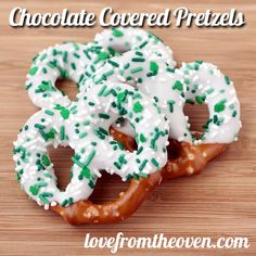 Chocolate Covered Pretzels for St. Patrick's Day