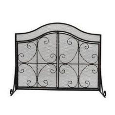 Plow & Hearth Single Panel Steel Fireplace Screen & Reviews | Wayfair Fireplace Screens With Doors, Christopher Knight Home, Fake Plants Decor, Fireplace Screens, Noble House, Fall Mantel Decorations, Trending Decor, Fireplace, Paneling