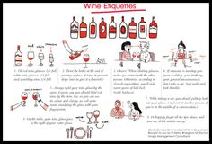 Some Basic rules of thumb for Wine Etiquettes. Inspired from the Blog Cup of Jo, these illustrations by Gemma Correll are bought together by Styl.Inc Image Management Consultants