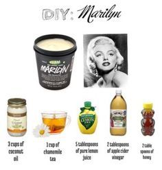 (Hair Mask For Blondes) marilyn hair mask lush replicated, haven't tried this yet but found it in a post, wonder how it compares?marilyn hair mask lush replicated, haven't tried this yet but found it in a post, wonder how it compares? Natural Hair Care, Natural Hair Styles, Natural Beauty, Lush Beauty, Natural Makeup, Natural Hair Bleaching, Diy Lush, Beauty Care, Hair Beauty