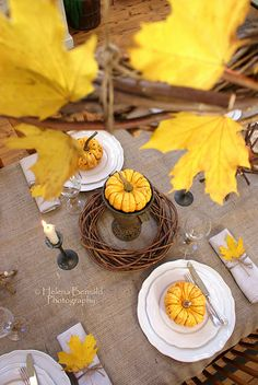 lovely fall table setting