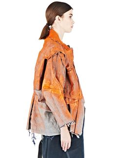 Hannah Jinkins Painted Textured Denim Jacket