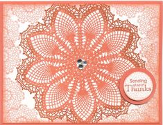 Two-Tone Hello Doily! by Soozie4Him - Cards and Paper Crafts at Splitcoaststampers