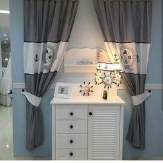 Marin perde bebek odası