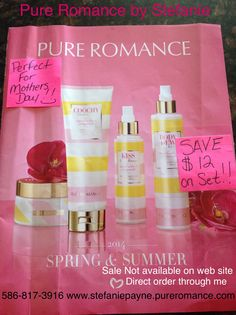 MOTHERS DAY SALE! Call now for delivery for her special day! 586-817-3916.   Pure Romance by Stefanie