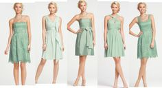 Mint Green Ombre Bridesmaids Gowns - love!