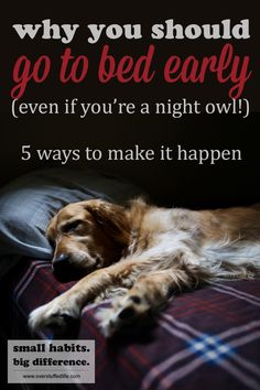 Going to bed earlier is important for your overall health. Here are 5 ways to actually get yourself in bed and asleep before 10:00 pm.