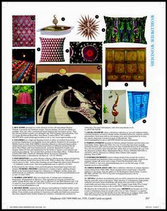 World of Interiors December 2015.....The Travel Edition (find us in the World Wide Wonders Directory)